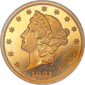 Proof Liberty Double Eagles, 1881 $20 PR65 Cameo NGC. CAC....