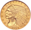 Proof Indian Quarter Eagles, 1913 $2 1/2 PR65 NGC. CAC....