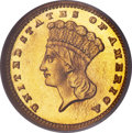 Proof Gold Dollars, 1885 G$1 PR66 NGC. CAC....