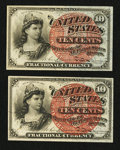 Fr. 1259 10¢ Fourth Issue Choice New Two Examples