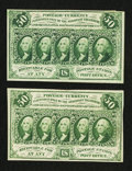 Fractional Currency:First Issue, Fr. 1312 50¢ First Issue & Fr. 1313 50¢ First Issue.. ...(Total: 2 notes)