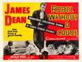"Movie Posters:Drama, Rebel Without a Cause (Warner Brothers, 1955). British Quad (30"" X 40""). Drama.. ..."