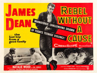 "Rebel Without a Cause (Warner Brothers, 1955). British Quad (30"" X 40""). Drama"