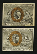 Fractional Currency:Second Issue, Fr. 1246 10¢ Second Issue & Fr. 1247 10¢ Second Issue. . ... (Total: 2 notes)
