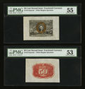 Fractional Currency:Second Issue, Fr. 1314SP 50¢ Second Issue Wide Margin Front & Back Specimen Pair. ... (Total: 2 notes)