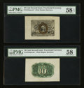 Fractional Currency:Second Issue, Fr. 1244SP 10¢ Second Issue Front & Back Wide Margin Specimen Pair. . ... (Total: 2 notes)