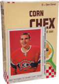 Hockey Collectibles:Others, 1963-64 John Ferguson Complete Corn Chex Cereal Box....