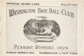 Autographs:Others, 1924 World Series Program (Washington) Signed by Walter Johnson, More....