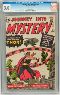 Journey Into Mystery #83 (Marvel, 1962) CGC GD/VG 3.0 White pages