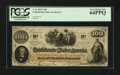 Confederate Notes:1862 Issues, T41 $100 1862 PF-7.. ...