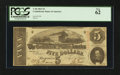 Confederate Notes:1863 Issues, T60 $5 1863 PF-24.. ...