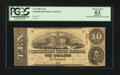 Confederate Notes:1863 Issues, T59 $10 1863 PF-16.. ...