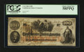 Confederate Notes:1862 Issues, T41 $100 1862 PF-15.. ...