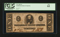 Confederate Notes:1863 Issues, T62 $1 1863 PF-5.. ...