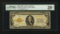 Small Size:Gold Certificates, Fr. 2405 $100 1928 Gold Certificate. PMG Very Fine 20 Net.. ...