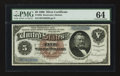 Large Size:Silver Certificates, Fr. 263 $5 1886 Silver Certificate PMG Choice Uncirculated 64.. ...