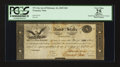 Large Size:Demand Notes, War of 1812 $10 Interest Bearing Treasury Note- Act of Feb. 24,1815 PCGS Apparent Very Fine 25. Friedberg TN-14a Hessler X83c...