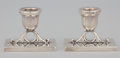 Silver Holloware, Mexican:Holloware, A PAIR OF MEXICAN SILVER CANDLESTICKS . Maker unidentified, Mexico, circa 1950. Marks: M.R.M. HECHO EN MEXICO 925, STERLIN... (Total: 2 Items)