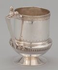 Silver Holloware, American:Cups, AN AMERICAN CUP WITH FIGURAL REST TO HANDLE . Gorham ManufacturingCo., Providence, Rhode Island, circa 1868. Marks: (lion-a...
