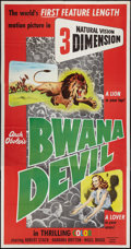 "Movie Posters:Adventure, Bwana Devil (United Artists, 1953). Three Sheet (41"" X 81"") 3-DStyle. Adventure.. ..."