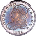 Proof Bust Half Dollars, 1834 Capped Bust Half Dollar PR65 NGC. O-104, Unique as a Proof....
