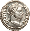 Ancients:Roman Imperial, Ancients: Diocletian (AD 284-305). AR argenteus (3.04 gm). ...