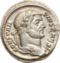 Ancients:Roman Imperial, Ancients: Constantius I as Caesar (AD 293-305). AR argenteus (3.18gm). ...