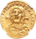 Ancients:Byzantine, Ancients: Justinian II, first reign (AD 685-695). AV solidus (4.46gm). ...