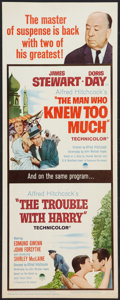 """Movie Posters:Hitchcock, The Man Who Knew Too Much / The Trouble With Harry Combo (Paramount, R-1963). Insert (14"""" X 36""""). Hitchcock.. ..."""