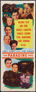"""Movie Posters:Hitchcock, The Paradine Case (Selznick, R-1956). Insert (14"""" X 36""""). Hitchcock.. ..."""