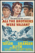 "Movie Posters:Adventure, All the Brothers Were Valiant (MGM, 1953). One Sheet (27"" X 41"")and Lobby Card (11"" X 14""). Adventure.. ... (Total: 2 Items)"