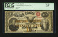 Large Size:Compound Interest Treasury Notes, Fr. 190b $10 1864 Compound Interest Treasury Note PCGS Very Fine 25.. ...