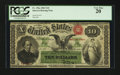 Large Size:Interest Bearing Notes, Fr. 196a $10 1863 Interest Bearing Note PCGS Very Fine 20.. ...