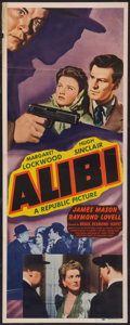"Movie Posters:Mystery, Alibi (Republic, 1943). Insert (14"" X 36""). Mystery.. ..."