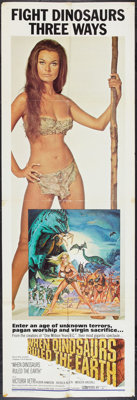 """When Dinosaurs Ruled the Earth (Warner Brothers, 1970). Door Panel Set of 3 (20"""" X 60""""). Fantasy. ... (Total:..."""