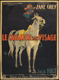 "Movie Posters:Western, The Mysterious Rider (Paramount, 1927). French Grande (47"" X 63"").Western.. ..."