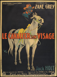 "The Mysterious Rider (Paramount, 1927). French Grande (47"" X 63""). Western"