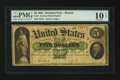 Large Size:Demand Notes, Fr. 3 $5 1861 Demand Note PMG Very Good 10 Net.. ...