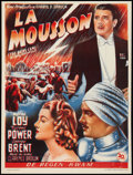 "Movie Posters:Adventure, The Rains Came (20th Century Fox, R-1950s). Belgian (13.5"" X 18"").Adventure.. ..."