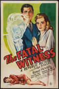 "Movie Posters:Mystery, The Fatal Witness (Republic, 1945). One Sheet (27"" X 41"").Mystery.. ..."