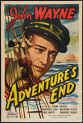 "Movie Posters:Adventure, Adventure's End (Realart, R-1949). One Sheet (27"" X 41"").Adventure.. ..."