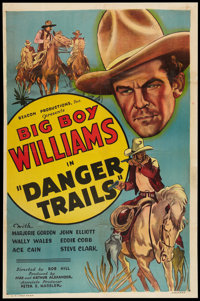 "Danger Trails (Beacon, 1935). One Sheet (27"" X 40.75""). Western"