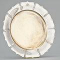 Silver Holloware, American:Plates, AN AMERICAN SILVER AND SILVER GILT PLATE WITH SHAPED RIM . Shreve& Co., San Francisco, California, circa 1920. Marks:SHR...