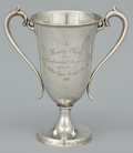 Silver Holloware, American:Vases, AN AMERICAN SILVER TWO-HANDLED TROPHY . Whiting Manufacturing Company, New York, New York, circa 1909. Marks: (griffin with ...