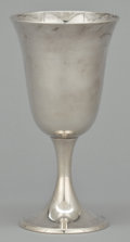 Silver Holloware, American:Water Goblet, A SET OF NINE AMERICAN SILVER GOBLETS . Gorham Manufacturing Co.,Providence, Rhode Island, circa 1950. Marks: Gorham, (...(Total: 9 Items)