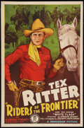 "Movie Posters:Western, Riders of the Frontier (Monogram, 1939). One Sheet (27"" X 41"").Western.. ..."