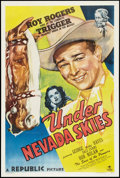 "Movie Posters:Western, Under Nevada Skies (Republic, 1946). One Sheet (27"" X 41""). Western.. ..."