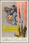 "Movie Posters:Horror, I Was a Teenage Werewolf (American International, 1957). One Sheet (27"" X 41""). Horror.. ..."
