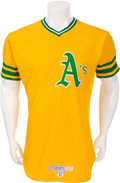 Baseball Collectibles:Uniforms, 1976 Rollie Fingers Game Worn Oakland A's Jersey, MEARS A10....