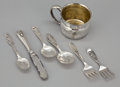Silver Holloware, American:Cups, A SEVEN PIECE GROUP OF AMERICAN CHILD'S SILVER . GorhamManufacturing Co., Providence, Rhode Island, circa 1950. Marks:Go... (Total: 7 Items)